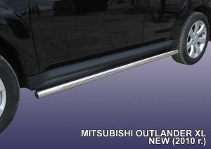 MITSUBISHI OUTLANDER XL (2010)-Пороги d76 труба